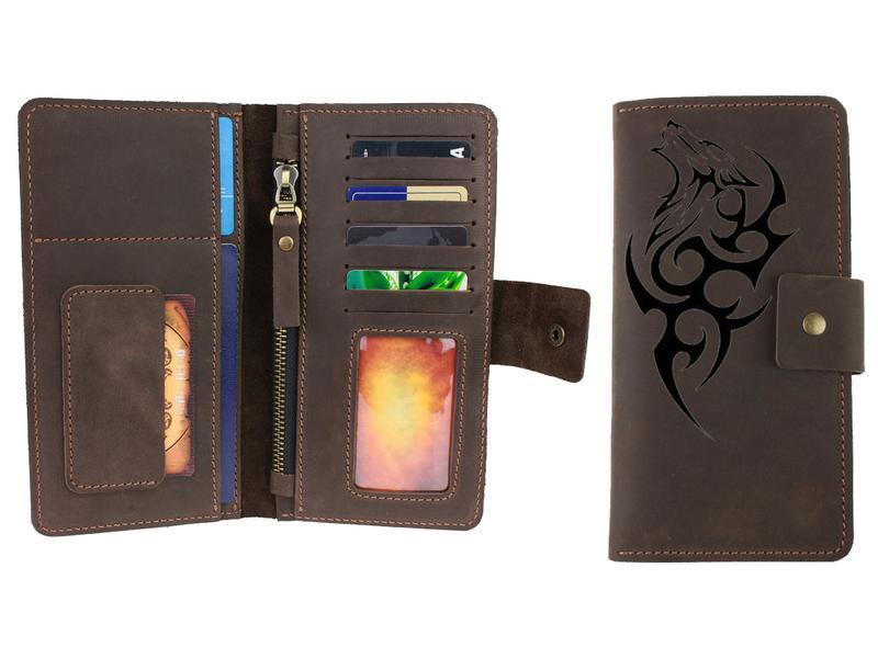 Именной кошелёк с гравировкой, кожаный кошелек, портмоне 8 цветов, бесплатная гравировка  Type 4