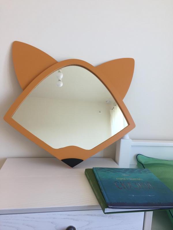"""Зеркало для детской комнаты """" Лисичка """""""