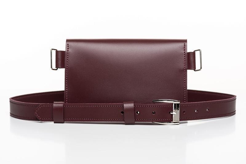4a8fd782396c Поясная сумка 2 в 1 Burgundy ручной работы купить в Украине. №440080