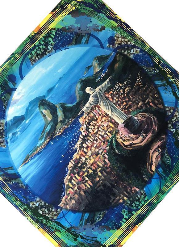 Дизайнерский шелковый платок Вид на Рио де Жанейро