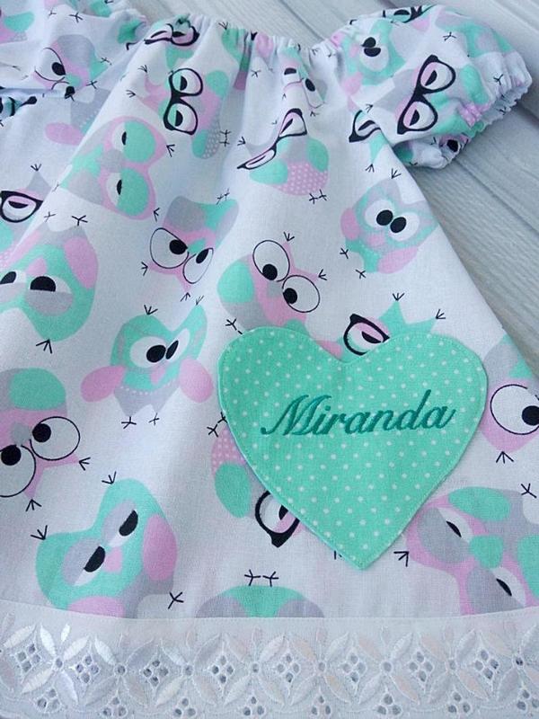 """Летнее платье для девочки""""Разноцветные овечки"""""""
