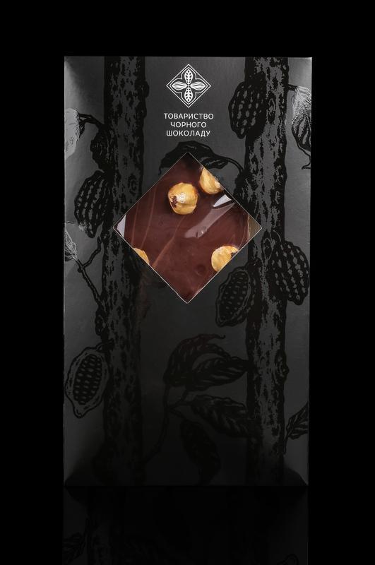 Черный шоколад с лесным орехом