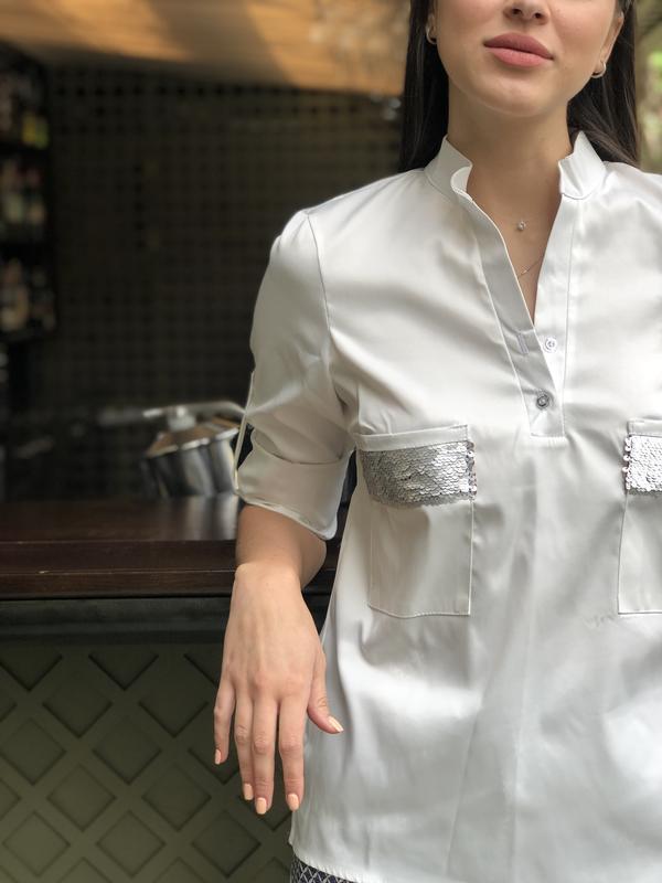 Рубашка Shine, цвет молочный