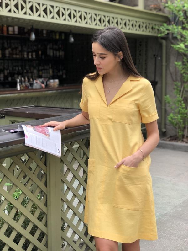 9aecd057c57 Платье из льна Avrora (Коллекция Лето 2019) ручной работы купить в ...