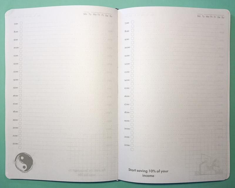 Блокнот Notebook Active My perfect day Синий Металик А5 недатированный на год