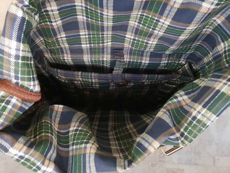 Рюкзак роллтоп из хлопка и кожи