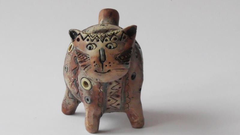 Свистулька кот Этно-подарок