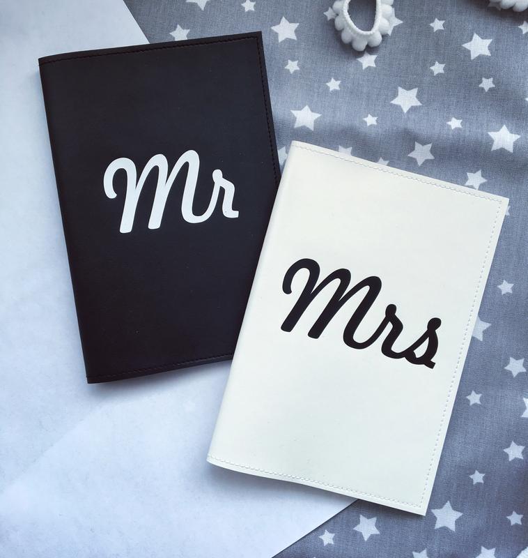 Парные обложки на паспорт Mr&Mrs