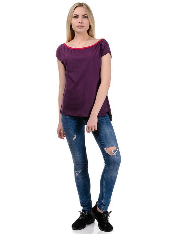 Фіолетова жіноча футболка Artystuff