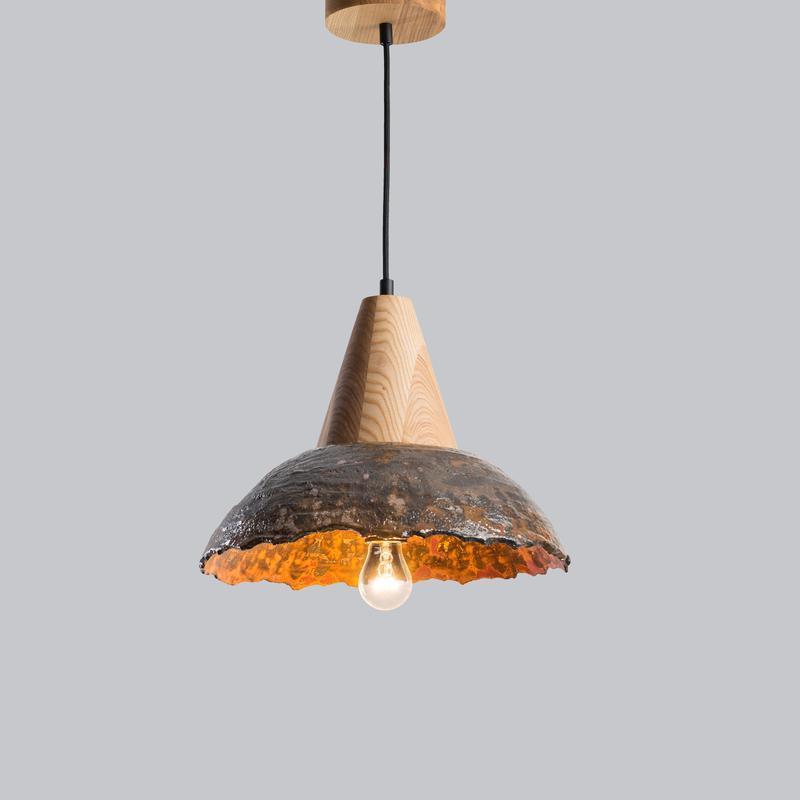 Керамическая люстра в стиле лофт