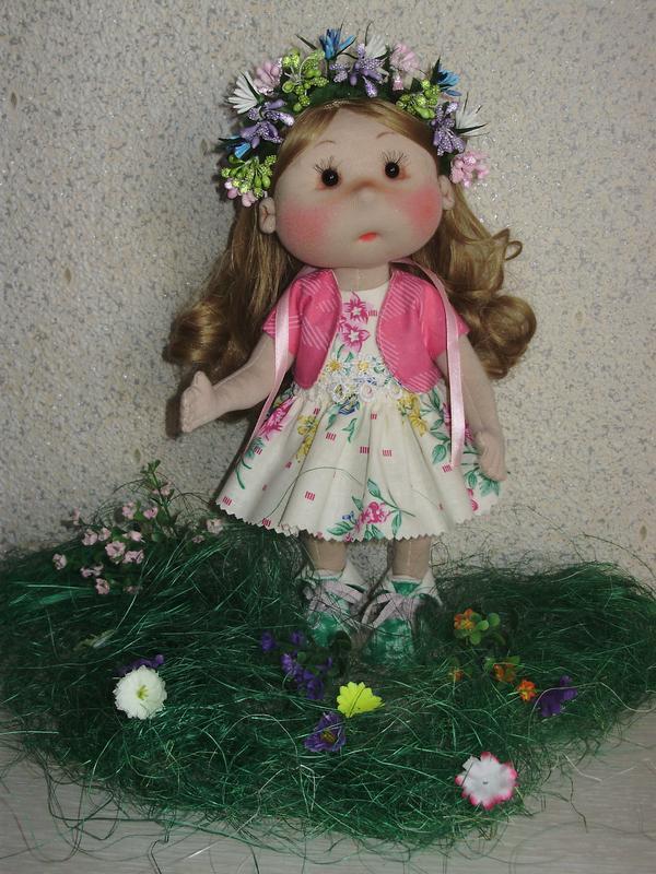 текстильная кукла Весна.