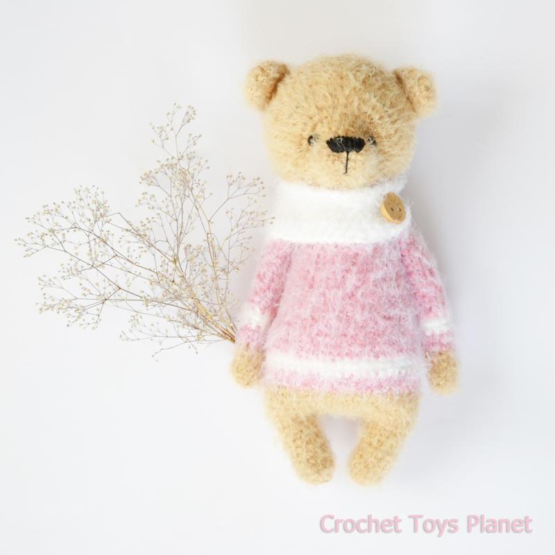 Вязаный мишка, Вязаная игрушка медведь, Вязаная игрушка