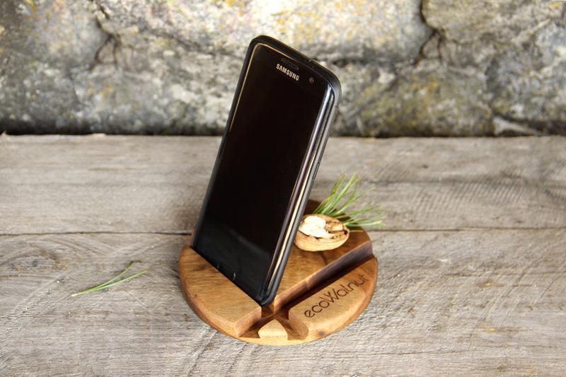 Деревянный Держатель Органайзер Подставка Для Телефона iPhone Планшета Смартфона iPad Из Дерева