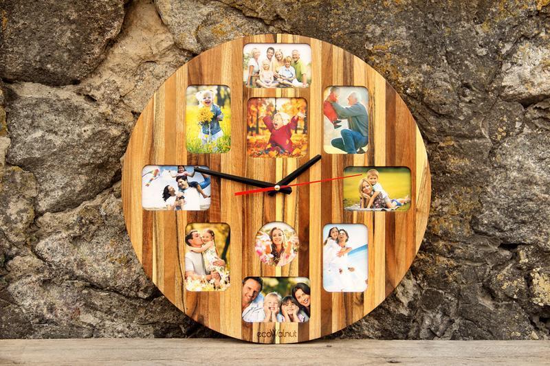 Іменні Годинники Для Дому На Стіну - Дерев'яні З Фотографіями Дизайнерські Авторські Настінні Loft