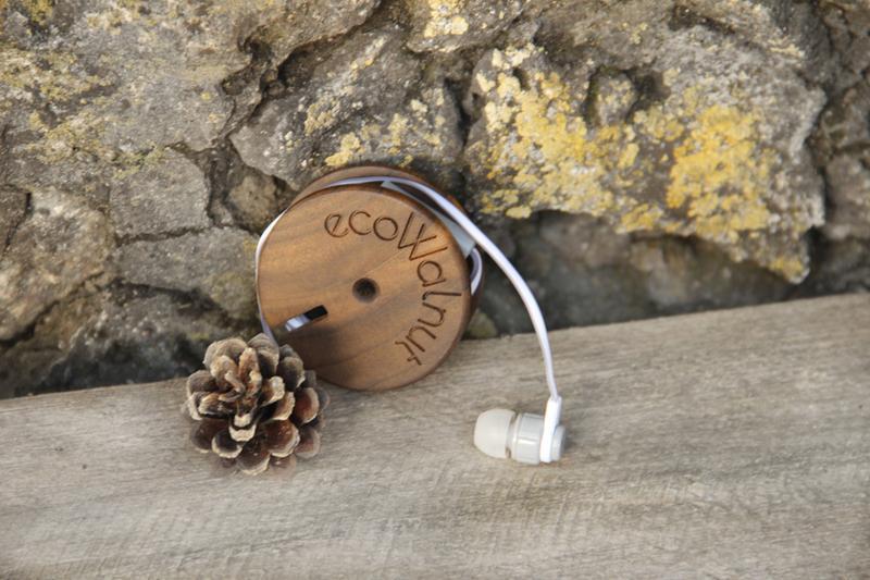 Катушка для наушников Ролик Деревянный Аксессуары из дерева Подарок для девушки iPhone С Логотипом