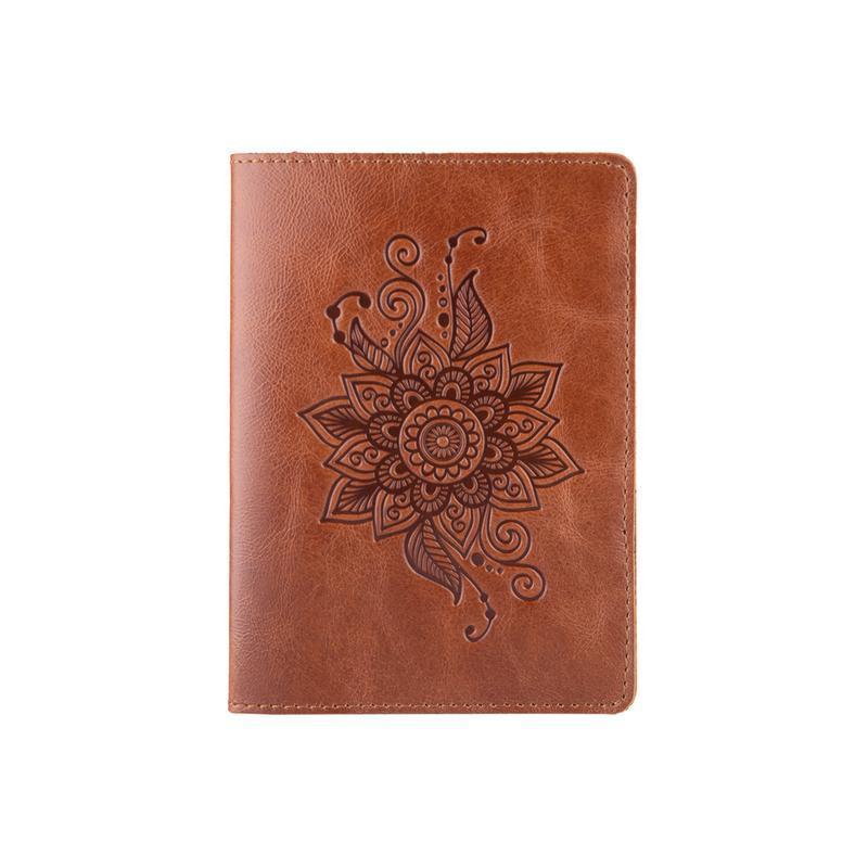"""Обложка для паспорта PC-01 PC-01 Crystal Amber """"Mehendi Classic"""""""