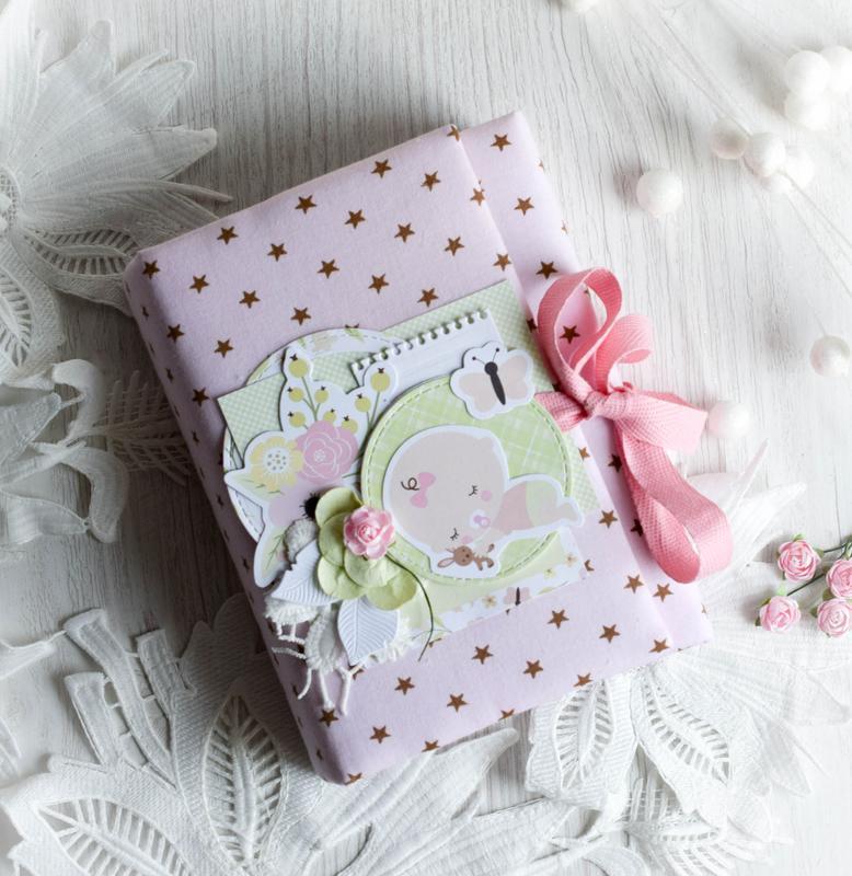 Мини альбом для девочки(розовый)