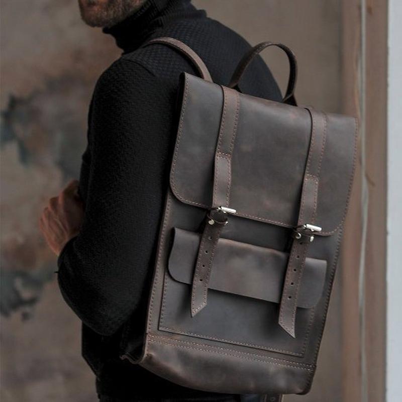 Великий темно коричневий рюкзак