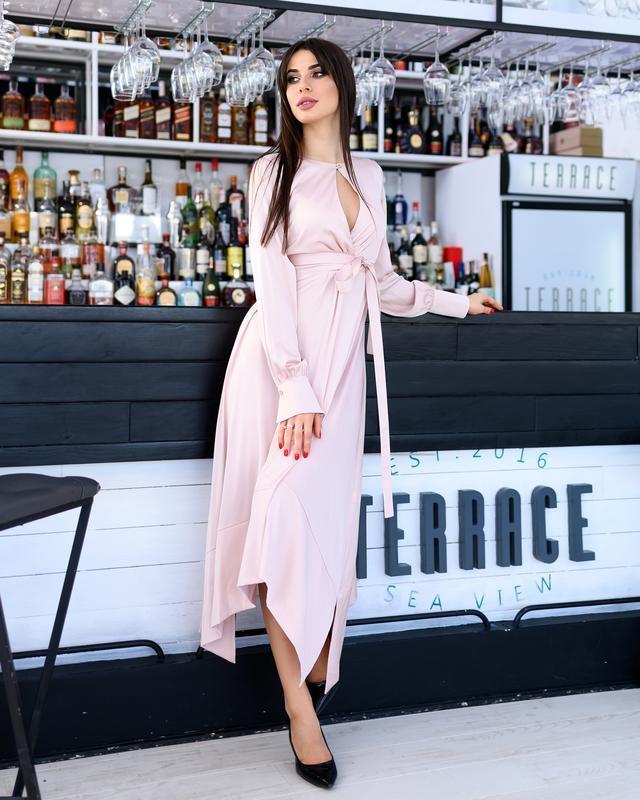 Платье вечернее из шелка