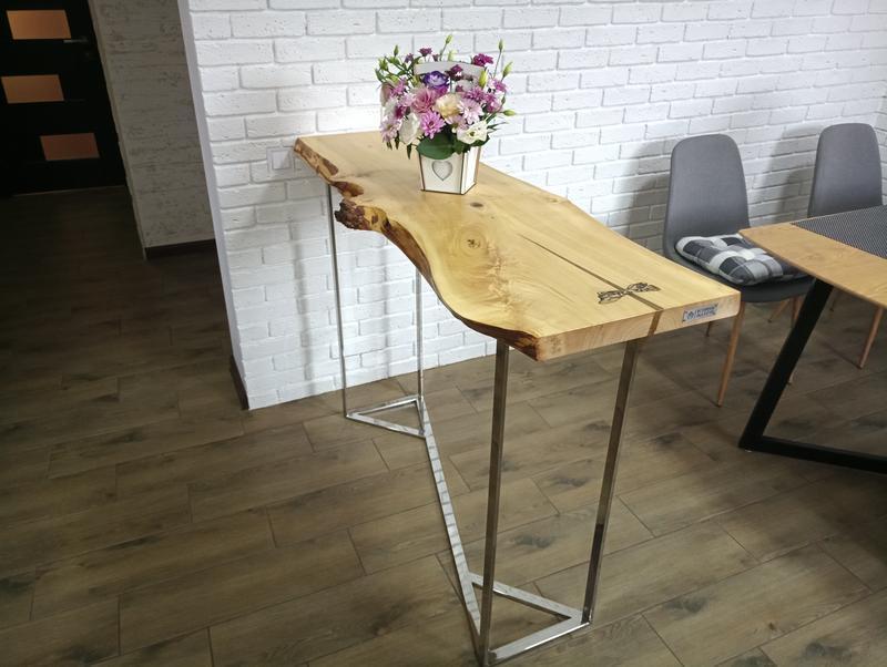 Консоль. Барная стойка. Стол из массива дерева. Слэб