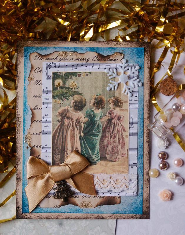 Рисунок, открытки с рождеством ручной работы