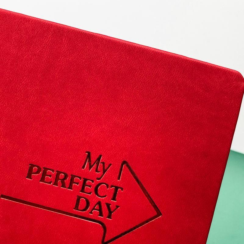 Мотивирующий Планер Planner My perfect day А5 украинский язык Красный