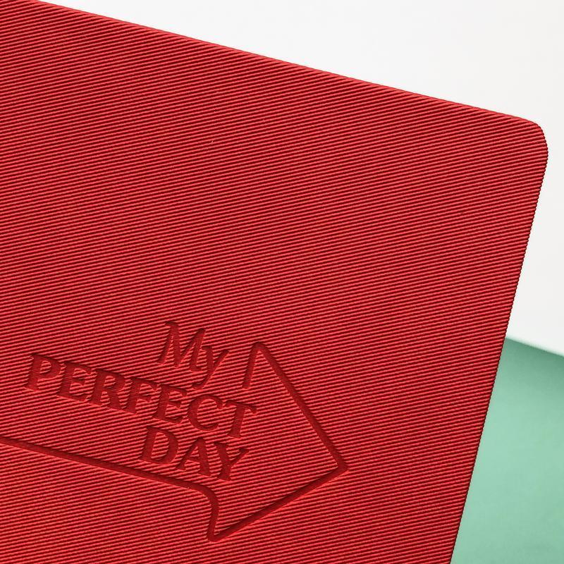 Мотивирующий Планер Planner My perfect day А5 украинский язык Красный Твил