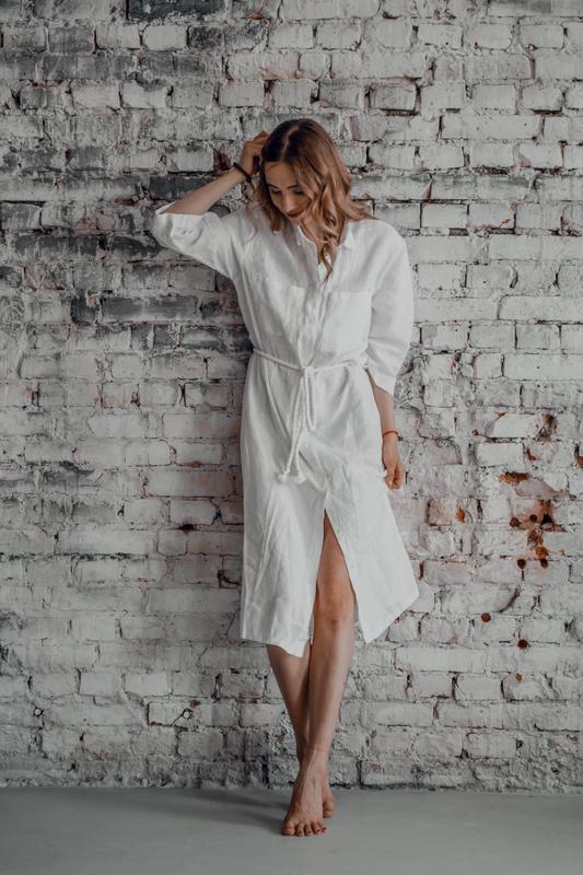 Льяное платье - рубашка. Сукня з льону
