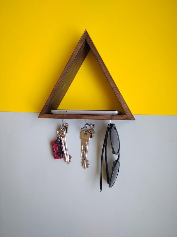 Ключница-полочка треугольник