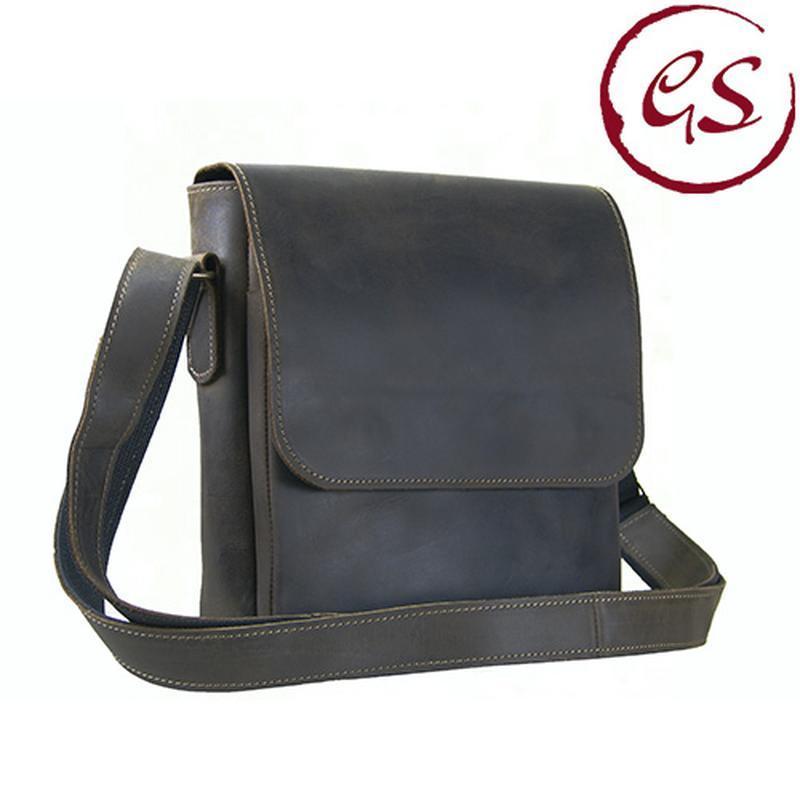 1364dc7571e8 Мужская кожаная сумка через плечо коричневая ручной работы купить в ...