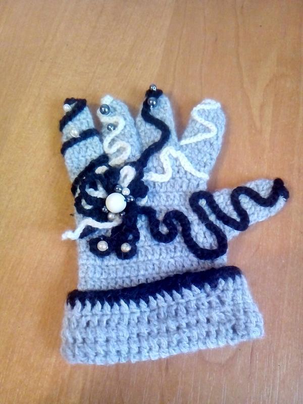 рукавички дитячі для дівчинки 3-4 років