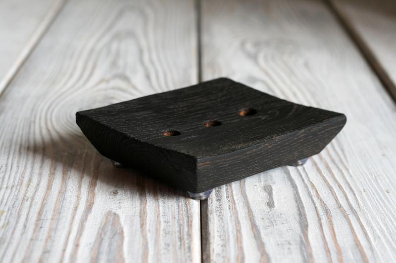 деревянная мыльница, мыльница из дуба, мыльница, мыльница из дерева