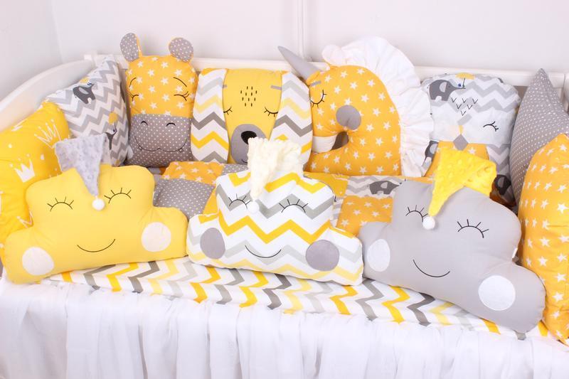 Комплект в кроватку в серо-желтых тонная Мирамель 60х120 см