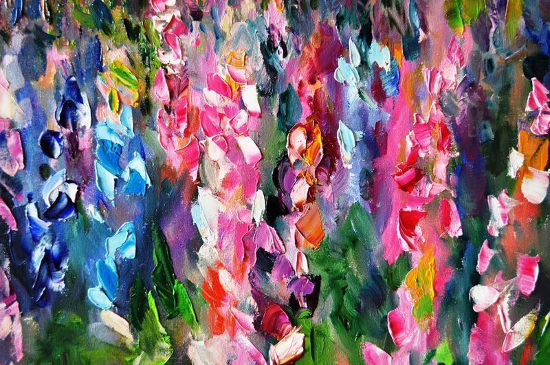 """Картина маслом """"Мечты лета"""", пейзаж живопись, 60х80 см картины цветы"""