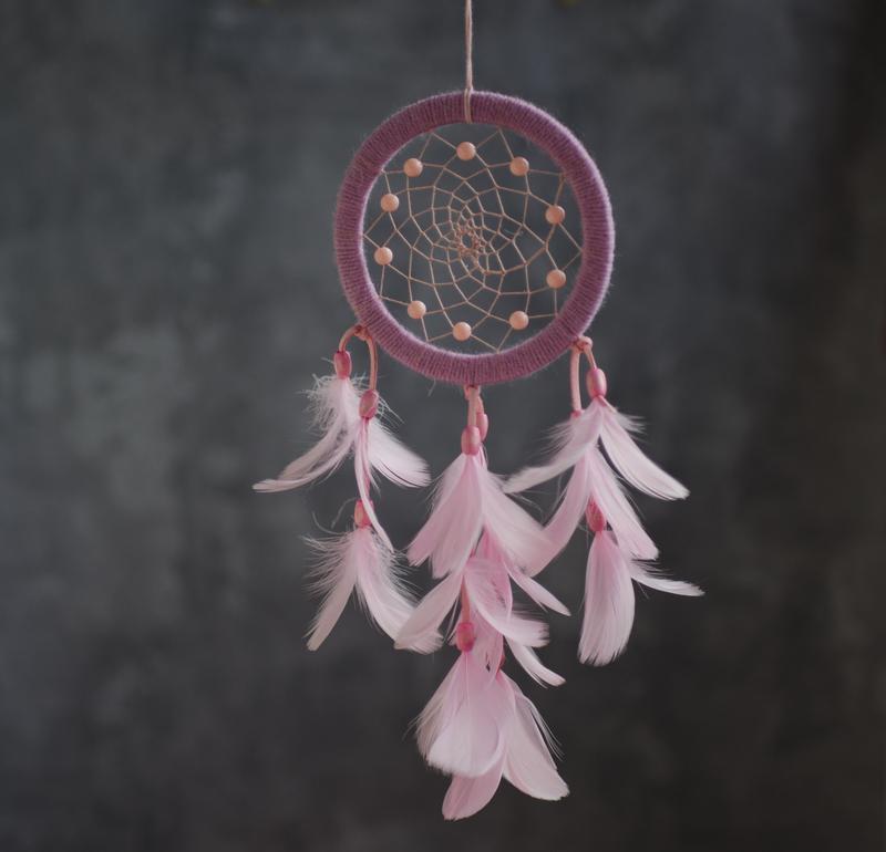 Розовый ловец снов на подарок. Рожевий ловець снів дівчині. Ловець снів для  подруги №464225 - купити в Україні на Crafta.ua