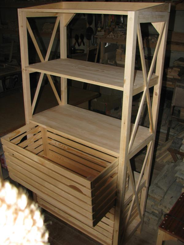 Стеллаж деревянный без ящиков