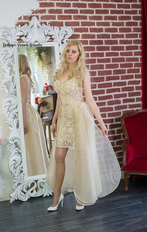 Весільна сукня 2 в 1 з пишною спідницею Вероніка