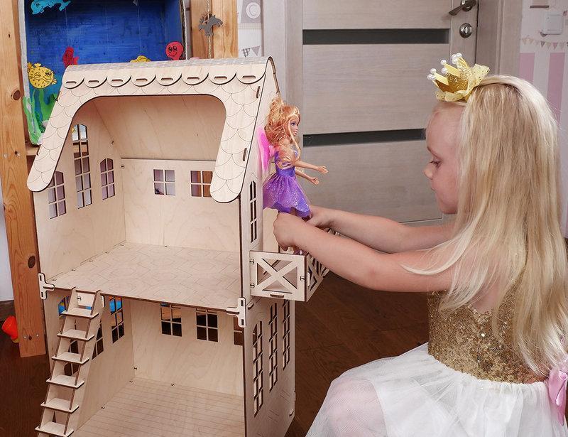 Smart Домик для кукол! ЕКО - Домик для кукол Barbie, Monster High и др. Без мебели. Код 004.04.02