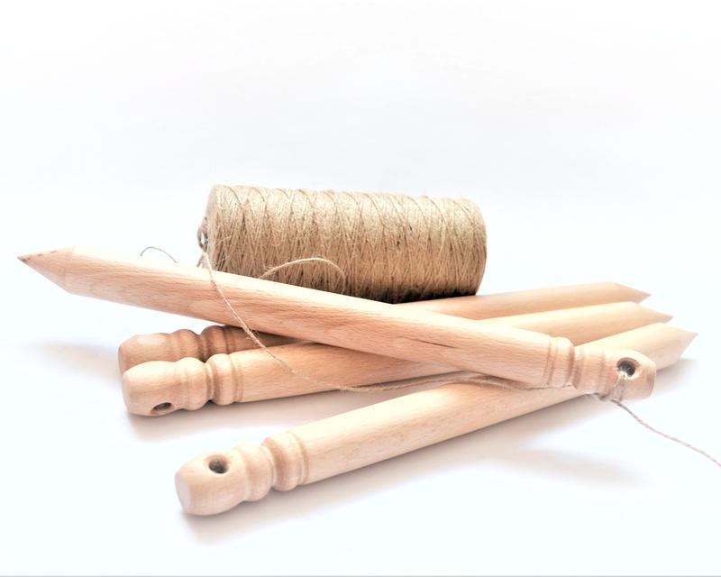 Колышки для грядки деревянные(комплект 2 шт.), бук, 33 см.