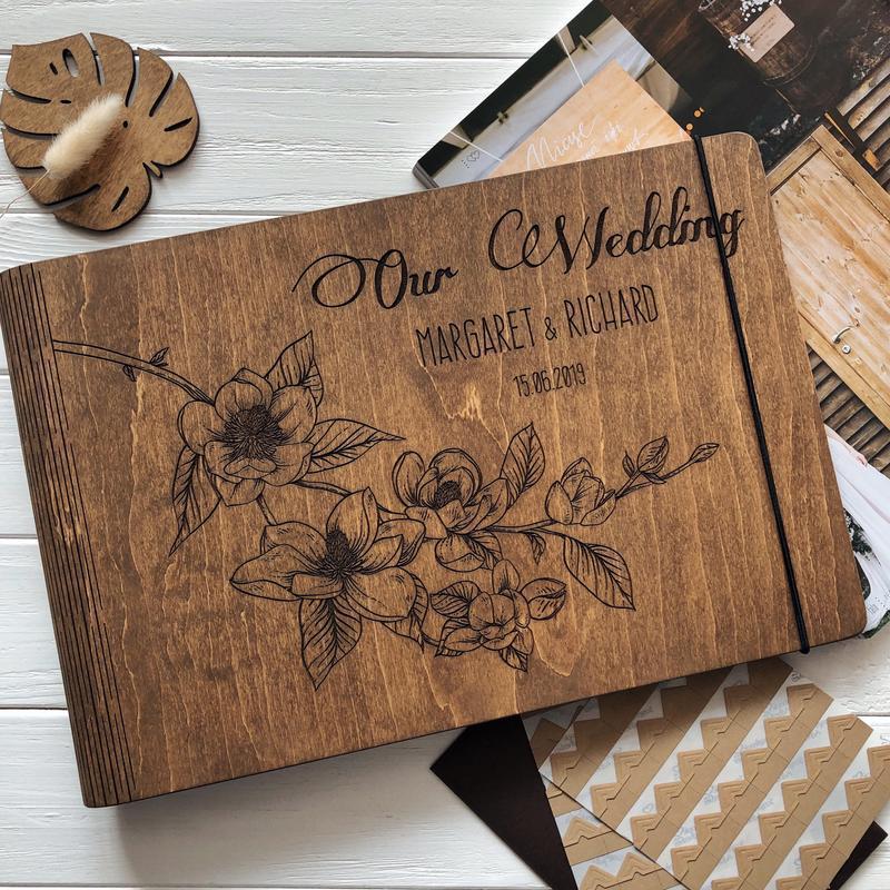 """Свадебный фотоальбом / Свадебная гостевая книга """"Our Wedding"""""""