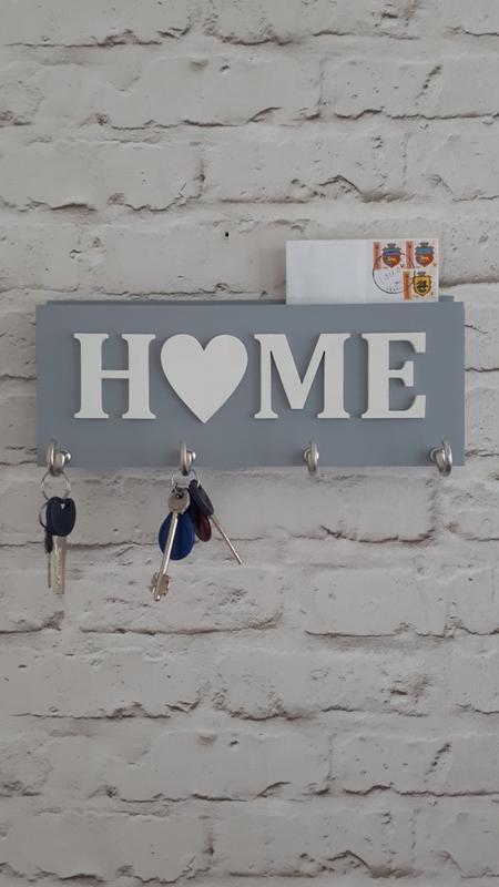 Ключница Home серая