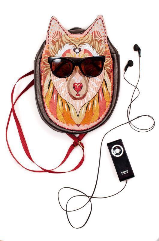Городской рюкзак с вышивкой Колли, верный друг музыканта, художника или любого др хорошего человека