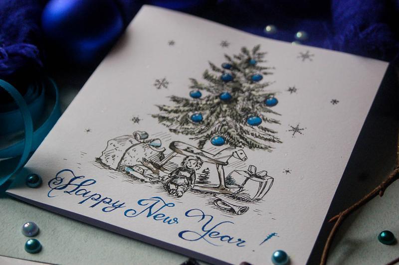 Новогодние открытки ручной работе