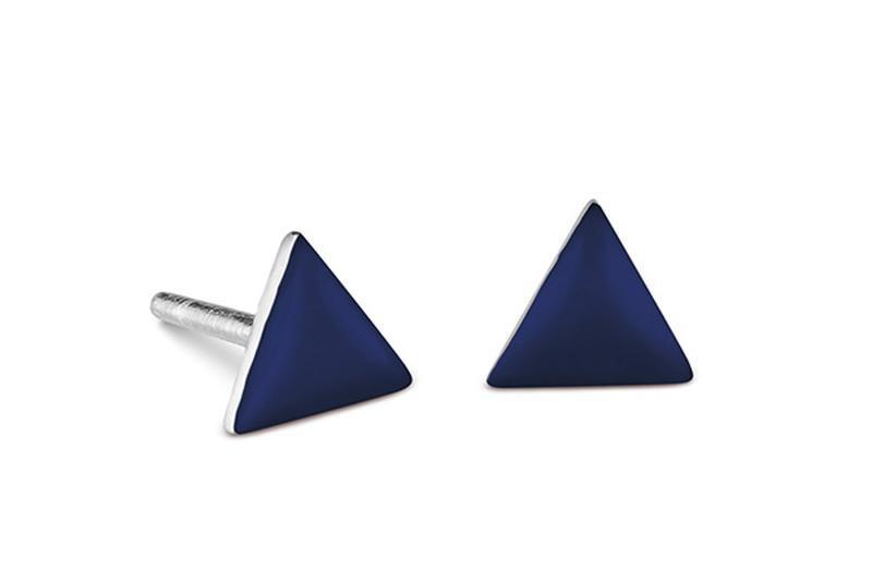 Серебряные серьги с эмалью Carameli треугольник