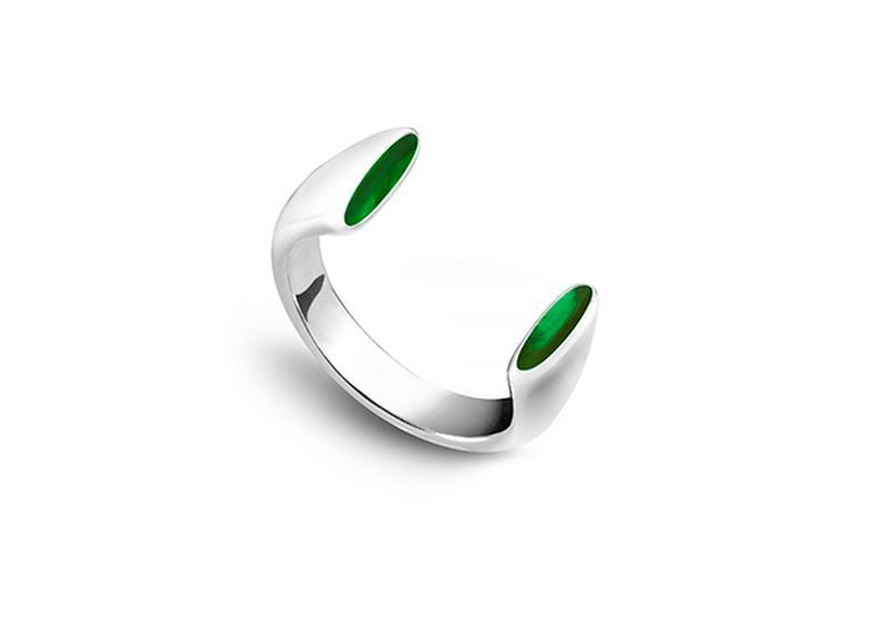 Серебряное кольцо КОШАЧИЙ ГЛАЗ