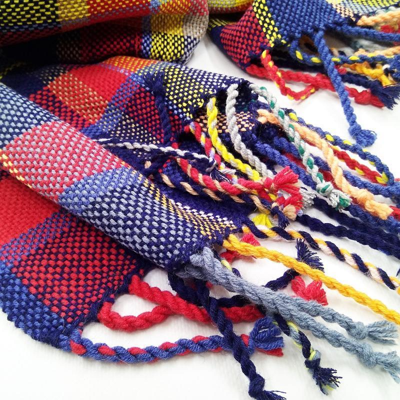 Тканый палантин Позитифф шерсть/ручное ткачество