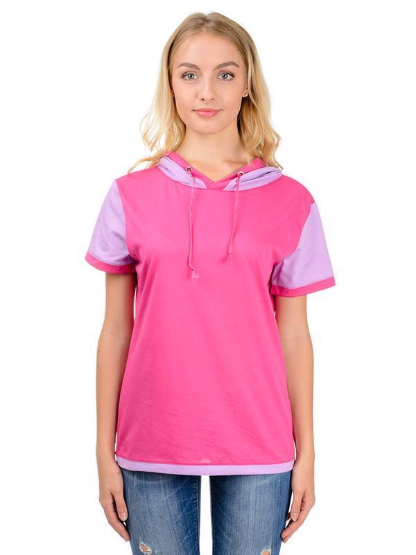 Жіноча рожева футболка з каптуром Artystuff