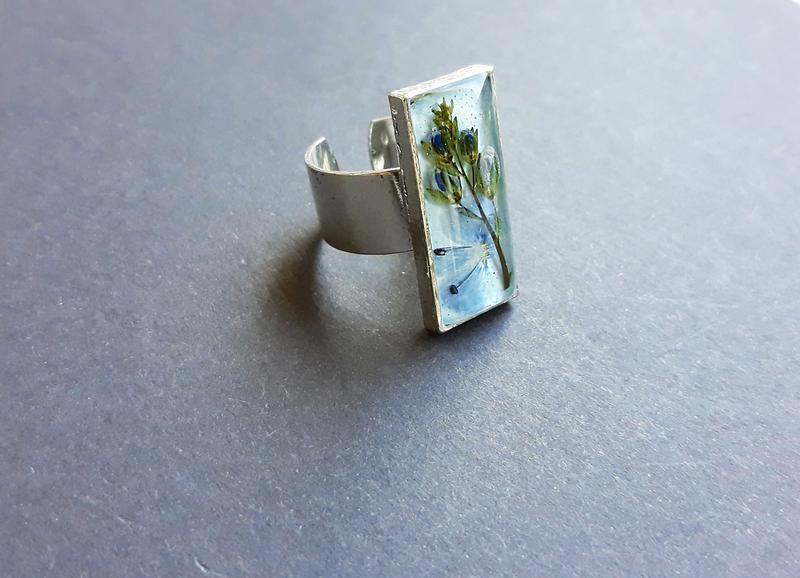 кольцо с цветком вероники