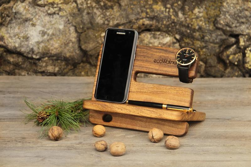 Органайзеры Подарки Из Дерева EcoWalnut Для Часов Ручек Телефонов Кошельков iWatch iPhone AirPods