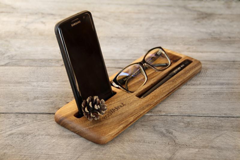 Деревянная Визитница Из Дерева Для Визиток Очков Ручек Ручки Телефона Смартфона iPhone Кредиток Карт